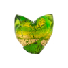 Emerald 24kt Gold Foil Venetian Tulip Beads 20mm