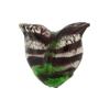 Black White Gold Foil Venetian Tulip Beads 20mm
