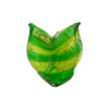 Peridot White Gold Foil Venetian Tulip Beads 20mm