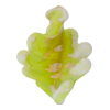 Green Gold Foil  White Fancy Twist Beads 30mm Murano Glass Bead