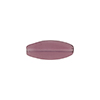 Transparent Flat Oval 16x6 Glass Amethyst