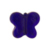 Murano Glass Bead Butterfly 24kt gold Foil 18mm, Cobalt Gold