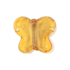 Murano Glass Bead Butterfly 24kt gold Foil 18mm, Gaggia Amber