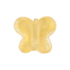 Murano Glass Bead Butterfly 24kt gold Foil 18mm, Clear Gold