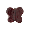 Murano Glass Bead Butterfly 24kt gold Foil 18mm, Garnet Red