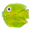 Murano Glass Bead Fish Vertical Hole 30mm Peridot Opalino