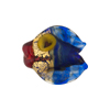 Murano Glass Lampwork Puffy Gold Fish Small Gold Foil Cobalt