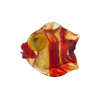 Murano Glass Lampwork Puffy Gold Fish Small Gold Foil Red Striped