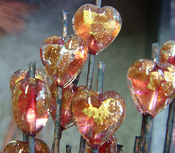 The Finished Product Authentic Murano Glass Gold Foil Beads