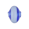 Murano Glass Bead Mini Mouth Blown Bluino Cipolla 15mm