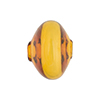 Murano Glass Bead Mouth Blown Topaz Cipolla 20mm