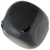 Blown Murano Glass Pebble Shape  30mm, Black