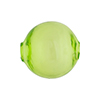 Murano Glass Bead, Transparent Green Solid Color Blown Round 20mm