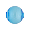 Murano Glass Bead Aqua Solid Color Blown Round 20mm