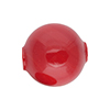 Opaque Rosso Solid Color Blown Round 20mm