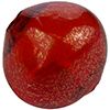 Blown Murano Glass Pebble Shape Gold Foil 30mm, Red