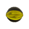 Black & Yellow Glass Canes Sculpted 20mm Penny Blown Murano