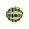 Murano Glass Bead Mouth Blown Peridot & Black Mosaic Sculpted 20mm Penny
