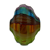 Multi Pastels Sculpted 20mm Cipollina Mouth Blown Murano Glass Bead