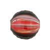 Black & Red Sculpted 20mm Round Blown