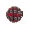 Red & Black Mosaic Sculpted 20mm Round