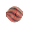Red, Black & Aventurina Blown Murano Glass Diamond Bead, 20mm