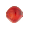 Red and Aventurina Blown Murano Glass Diamond Bead, 20mm