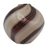 Beige and Aventurina Blown Murano Glass Diamond Bead, 20mm