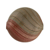 Rust and Gray Blown Murano Glass Flat Round Bead, Double Layer, 25mm