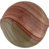 Red and Gray Double Layer  Aventurina Blown Focal Opaque 40mm, Murano Glass Bead