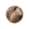 Brown,White,Aventurina Blown Round Double Layer Murano Glass Bead, 20mm