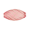 Blown Murano Glass Bead Rubino/Aventurina Mini Flat Oval, 25mm