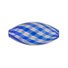 Blown Murano Glass Bead Cobalt/Aventurina Mini Oval, 28mm