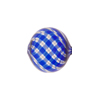 Murano Glass Bead Cobalt, Crystal, Aventurina Spiral Mini Blown Round 15mm