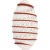 White Filigrana Oval Exterior Red Spiral