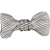 Mouthblown Glass Bow Tie, Borosilicate Black Lines Filigrana