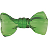 Mouthblown Glass Bow Tie, Borosilicate Transparent Fern Green