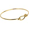 TierraCast Gold Plated Brass 12 Gauge Wire Bangle Bracelet 7.5 Inches