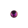 Dichroic Half Hole Round 10mm Murano Glass Bead Black Pink Dichroic