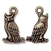 Wise Old Owl Charm, Brass Oxide Pewter, TierraCast