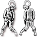 Zombie Charm, Antiqued Silver Pewter, TierraCast
