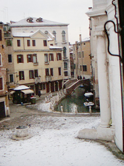 View from our Apartment in Venice Italy