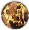 Chocolate and 24kt Gold Foil Murano Glass Bead