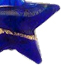 Cobalt and Gold Bicolor Star Murano Glass Bead