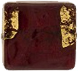 Garnet and Gold Foil Murano Glass Bead