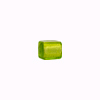 Peridot White Gold Cube  8mm by 8mm