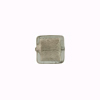 Grey White Gold Foil Cube Murano Glass Cube Bead,  10x10mm