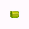 Peridot White Gold Cube  10x10mm