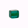 Murano Glass Bead Gold Foil Cube 10x12mm, Sea Green