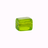 Murano Glass Bead Silver Foil Cubes 10x12mm Peridot